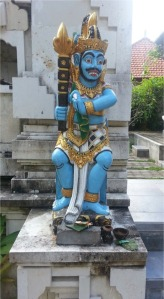 Painted statue in Sanur